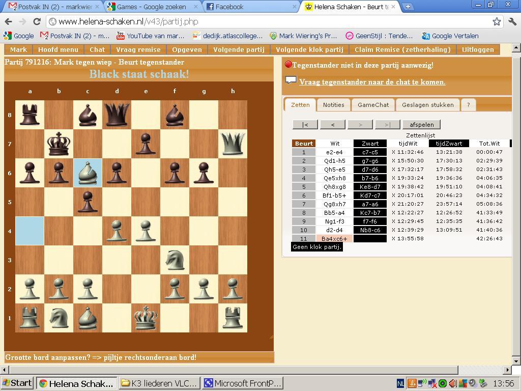 tegen computer schaken
